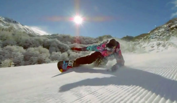 esqui snowboard gopro