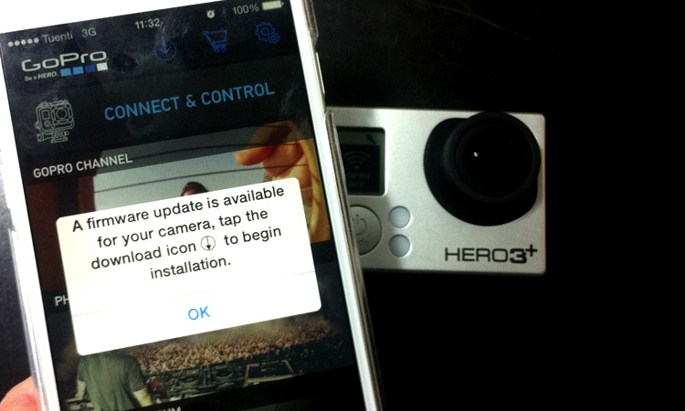 actualizar firmware gopro app movil
