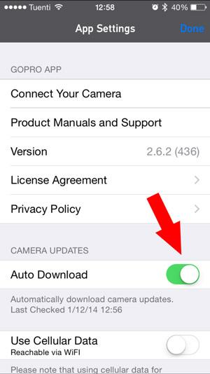 app gopro actualizaciones