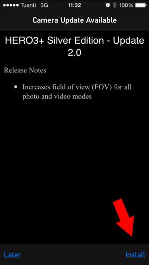 app gopro instalar firmware